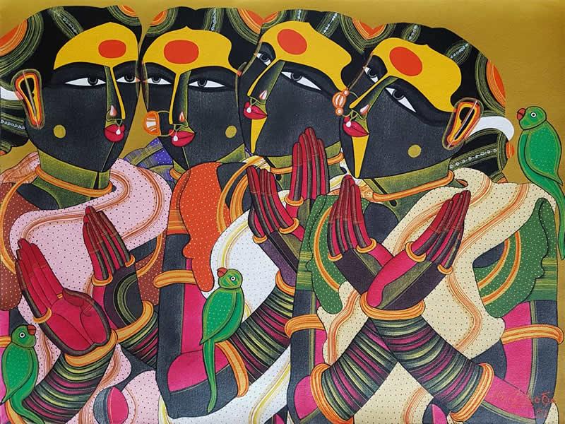 T. Vaikuntam, painting by T. Vaikuntam
